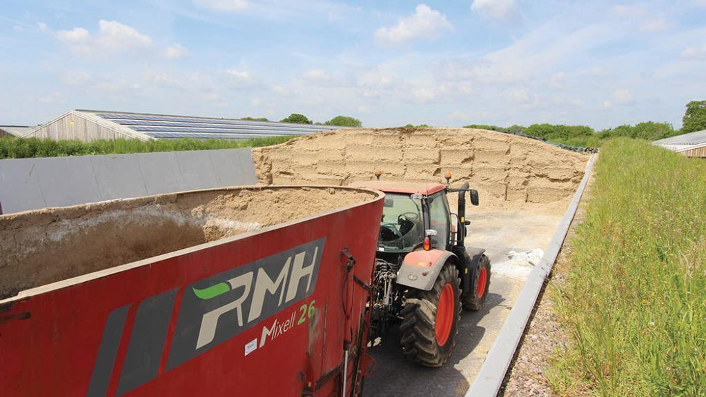 Sloping-walled clamps ensure consistent compaction.