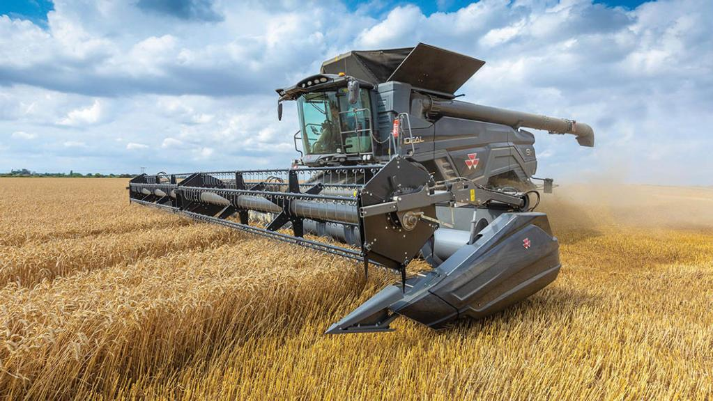 On test: Agco shows off new mammoth Ideal combine