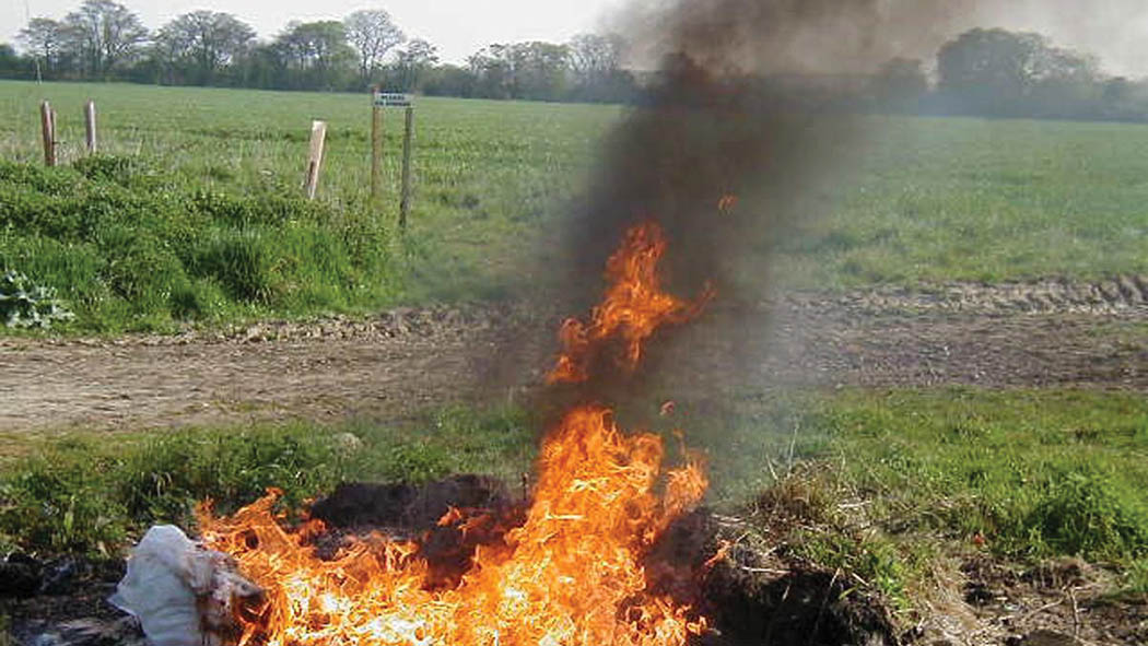 Total ban on burning of farm plastics implemented in Scotland