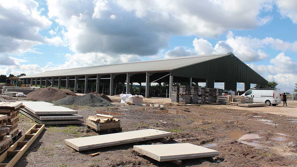 A new shed with four robots and room for 300 cows is currently being constructed.