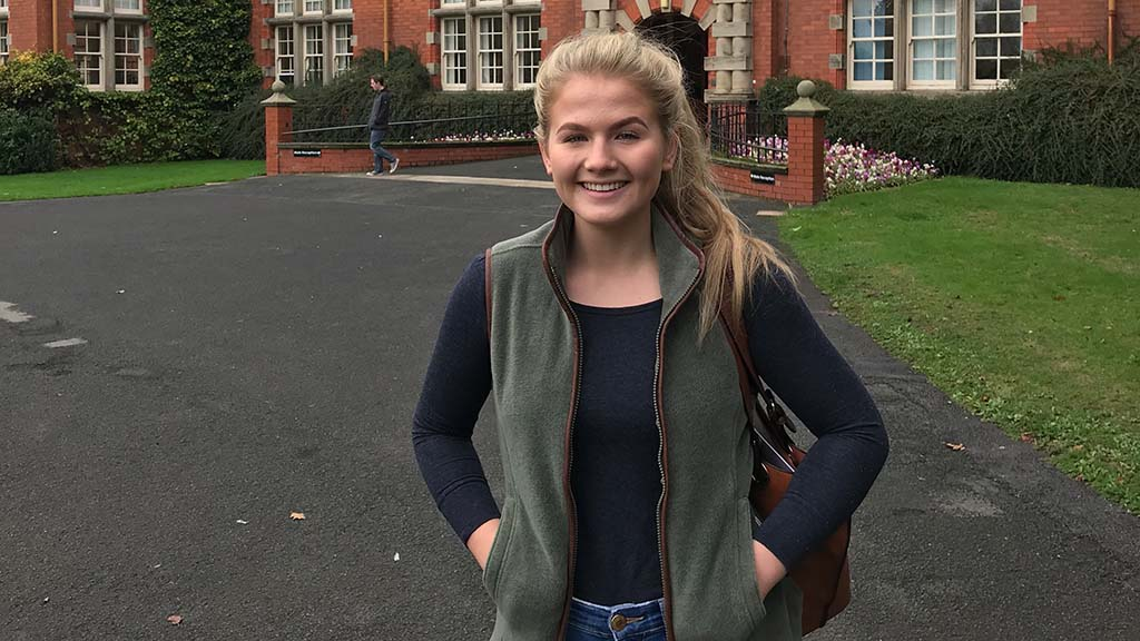A day in the life: 'My first day as an agricultural student' - Amy Watson, Harper Adams
