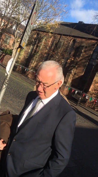John Wood outside Carlisle Crown Court