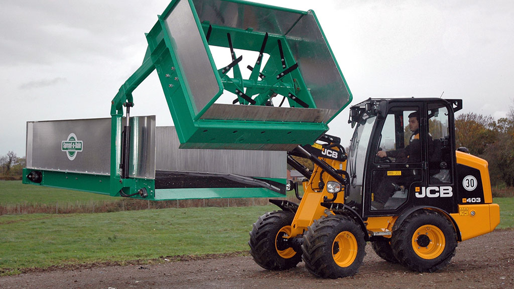 Spread-a-Bale self-loading spreader
