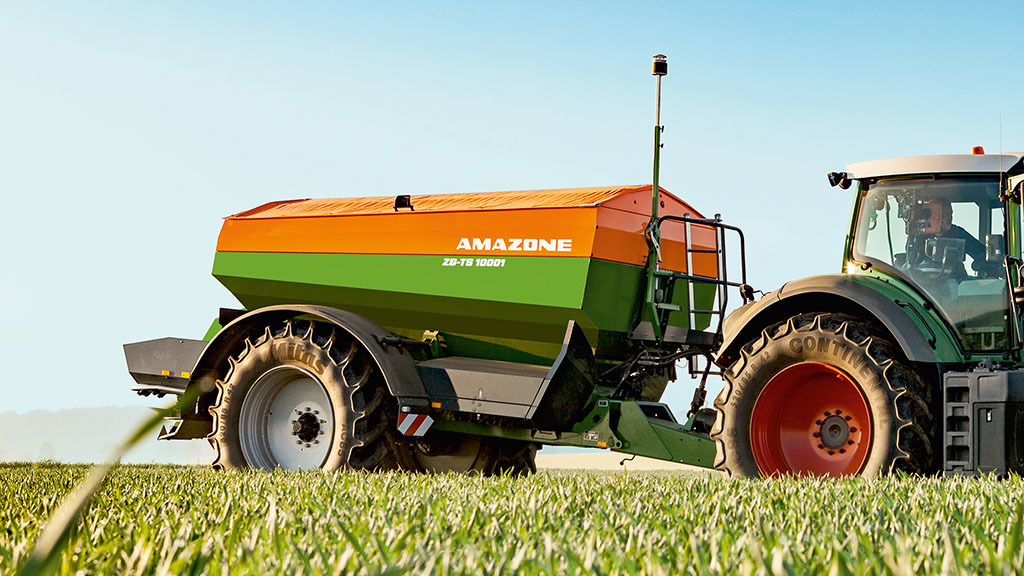 Amazone was awarded a bronze medal for its WindControl compensation system fitted to its disc spreaders. A sensor on the spreader monitors wind direction and speed, adjusting the drop point of fertiliser and rotation speed on the disc to compensate for dr