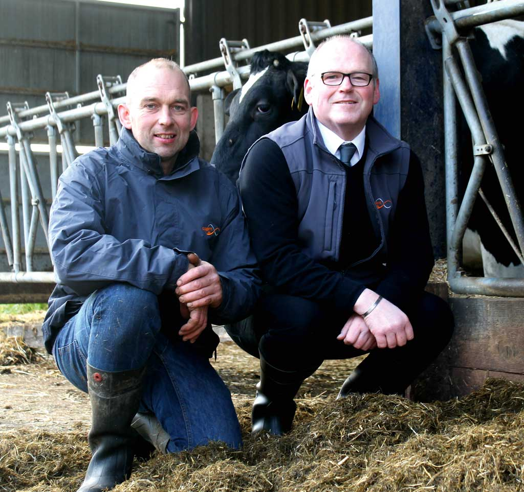 David Talbot (left) with Cogent breeding adviser Alan Robson.