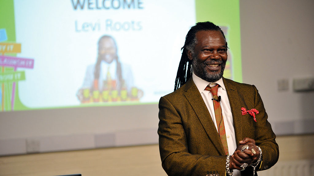 Levi Roots shares his advice with RAU students