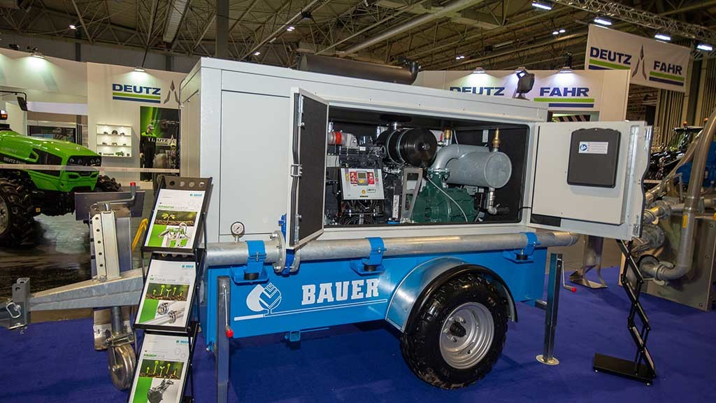 Bauer irrigation pump