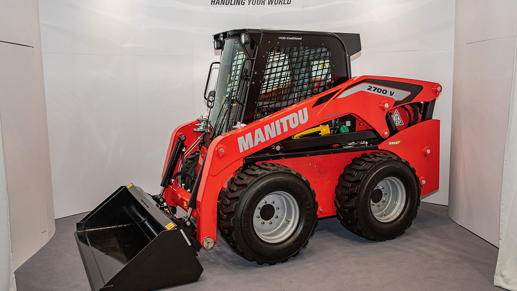 Manitou skid steer loader