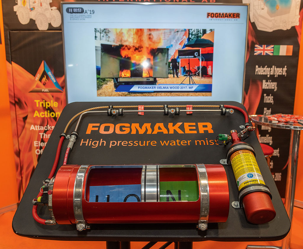 Fogmaker automatic fire suppression system