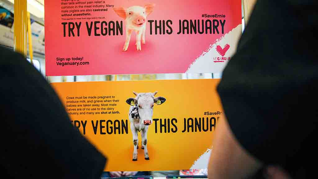 'Posters about what farmers supposedly do to their animals are not helping vegan cause'