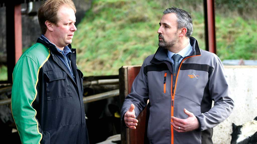 Rodney Down (left) with Cogent's regional sales manager Graham Higgott.