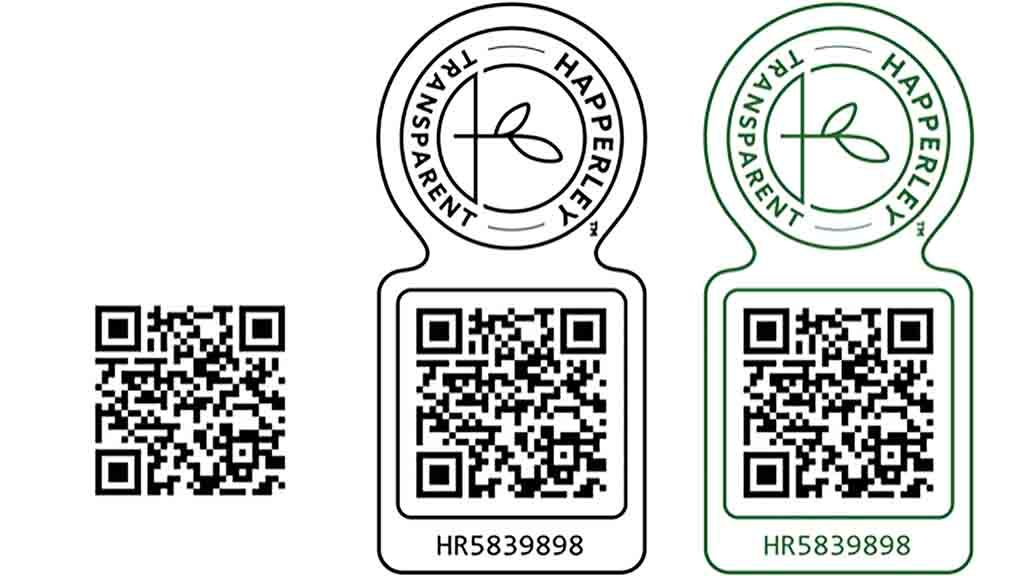 QR codes will be included with products for customers to scan