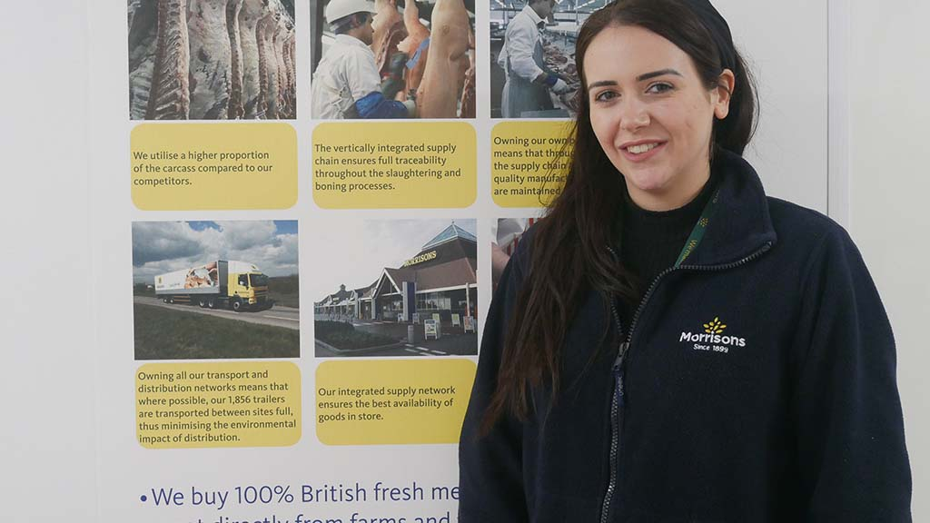 Morrisons apprentice Sophie Tattersall at her base at Woodheads, Colne.