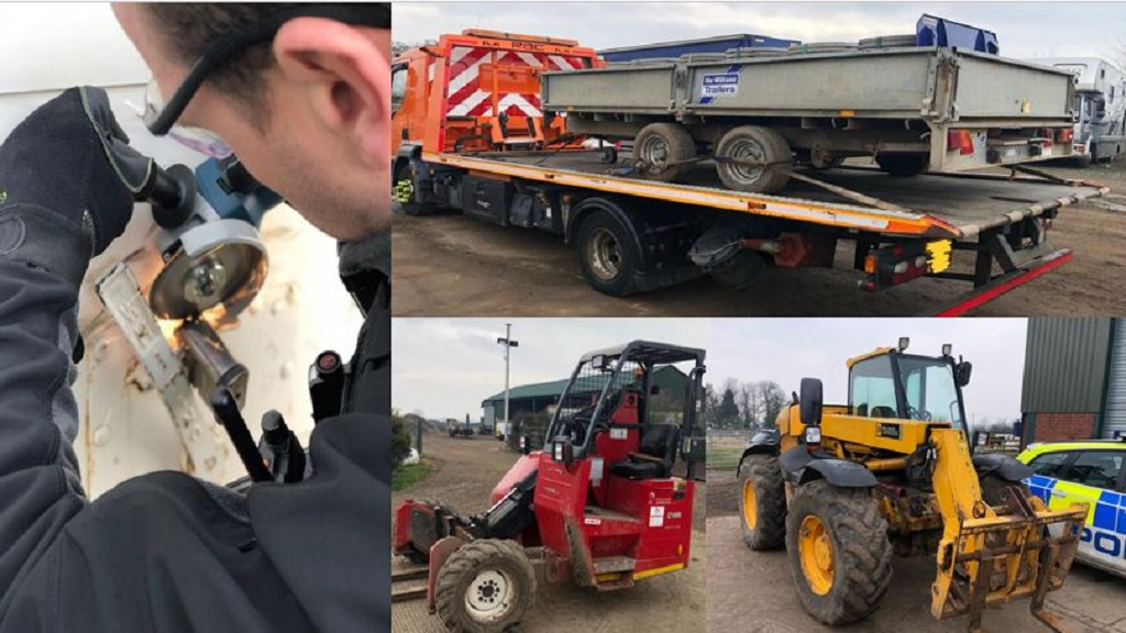 Four arrested in early morning raids after tractor thefts totalling £100,000