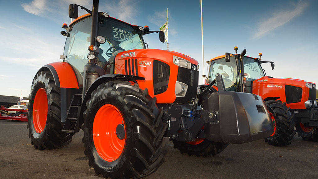 Kubota's M7 could soon be joined by a bigger brother M8.