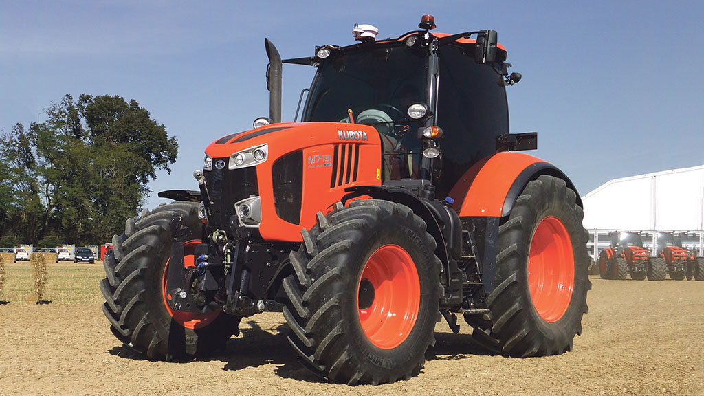 Kubota's largest tractor range is the M7 Series from 130-170hp.