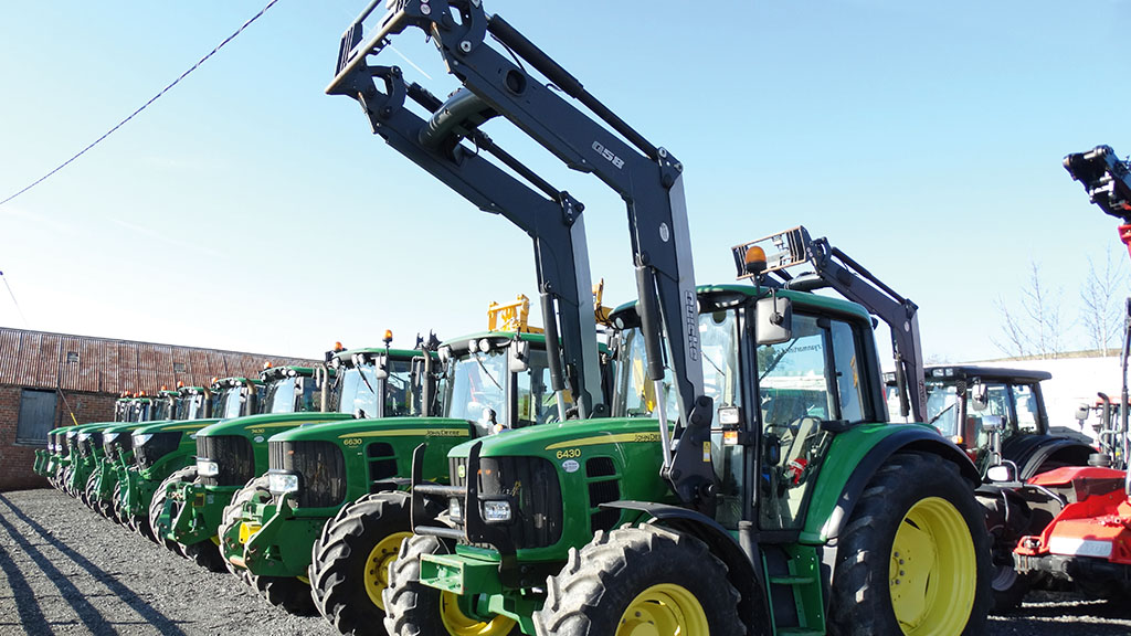 John Deere tractors see strong trade in the area.