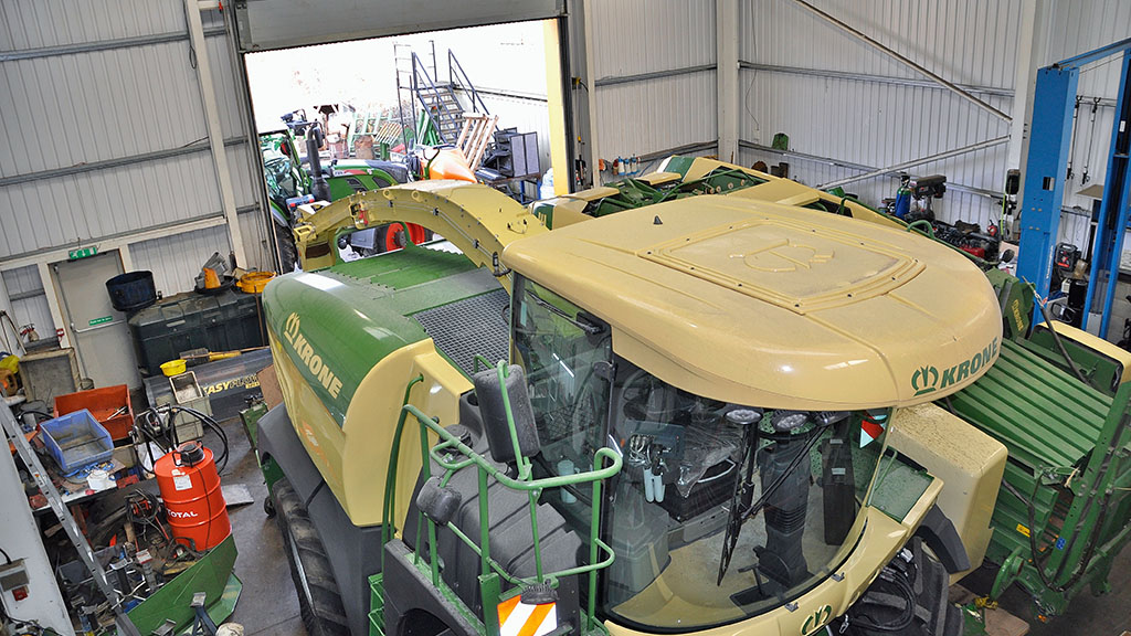 Moore Farm Services' summer business revolves around the Krone forage equipment.