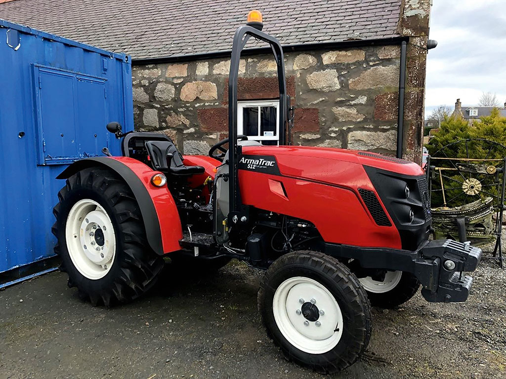 The 512 is proving popular as a fruit tractor and around the yard.
