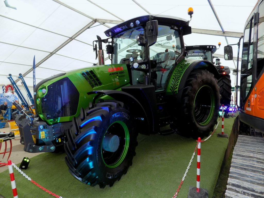A special edition Claas Arion 650 tractor.