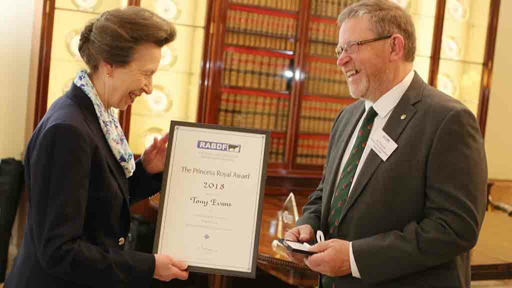 Dairy farmer presented with royal award for his services to the sector