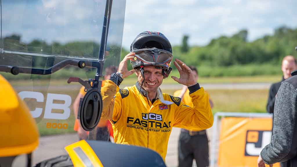 VIDEO: Guy Martin gives his reaction to JCB's 103.6mph Fastrac tractor speed record