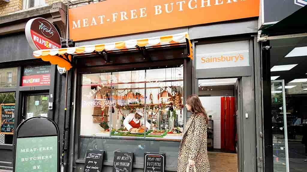 Sainbury's go vegan with launch of pop-up meat-free 'butchers'