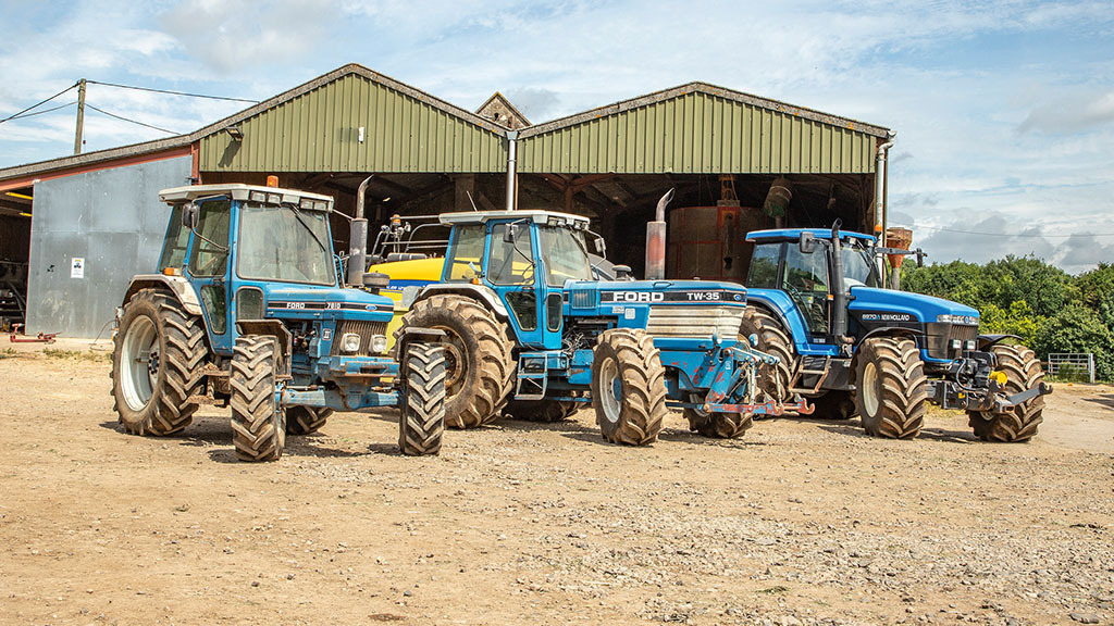Classic Ford fleet at work: One farm maintains all-blue theme for 47 years