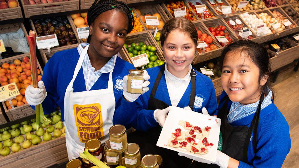 Inner city London kids sell own-brand chutney in high-street supermarket