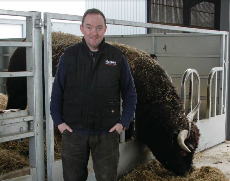 Conor Colgan is a pedigree Salers and combinable crops farmer in Northumberland.