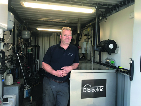 Edward Goodall's AD plant is cutting the farm's electricity bills from £4,500 a month to £1,000.