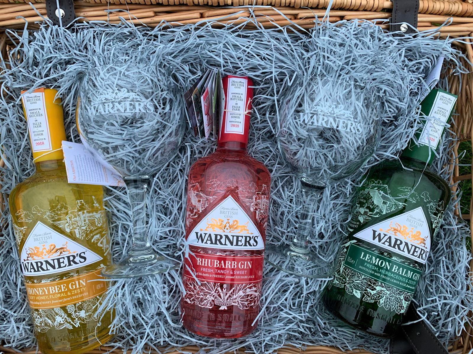 6:05pm: Epic hamper from Warners Gin