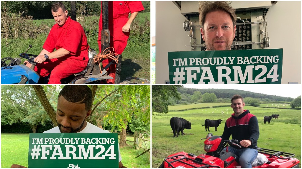 Famous faces rally to support British food and farming for #Farm24
