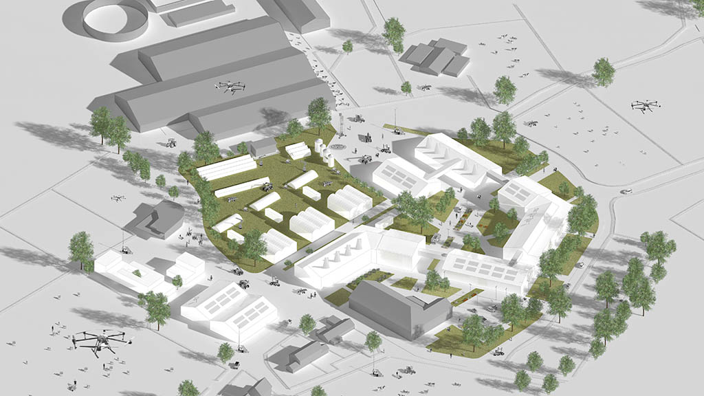 Plans for the Hartpury digital innovation farm.