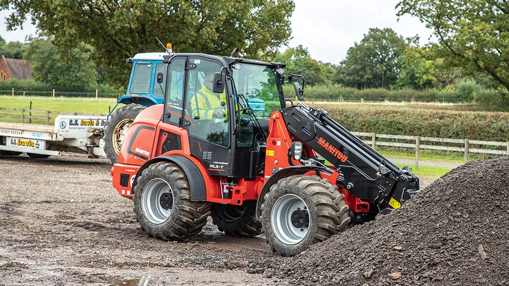 Behind the wheel of Manitou's latest loader, the articulated MLA-T 516-75H