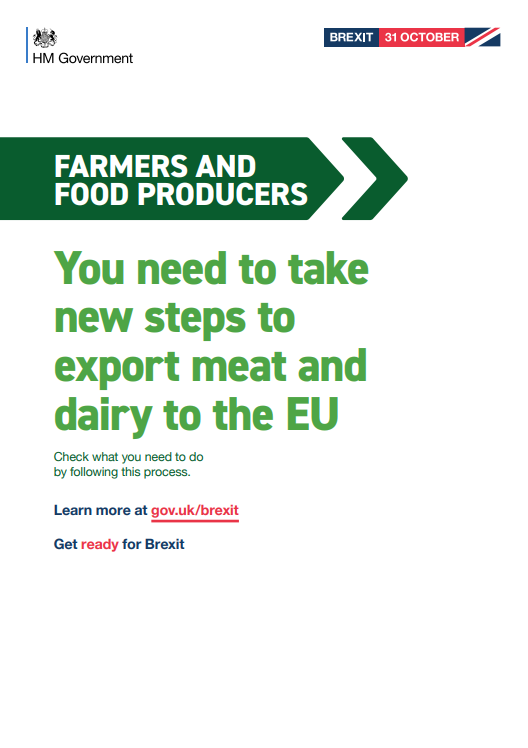 Brexit: exporting meat and dairy products to the EU