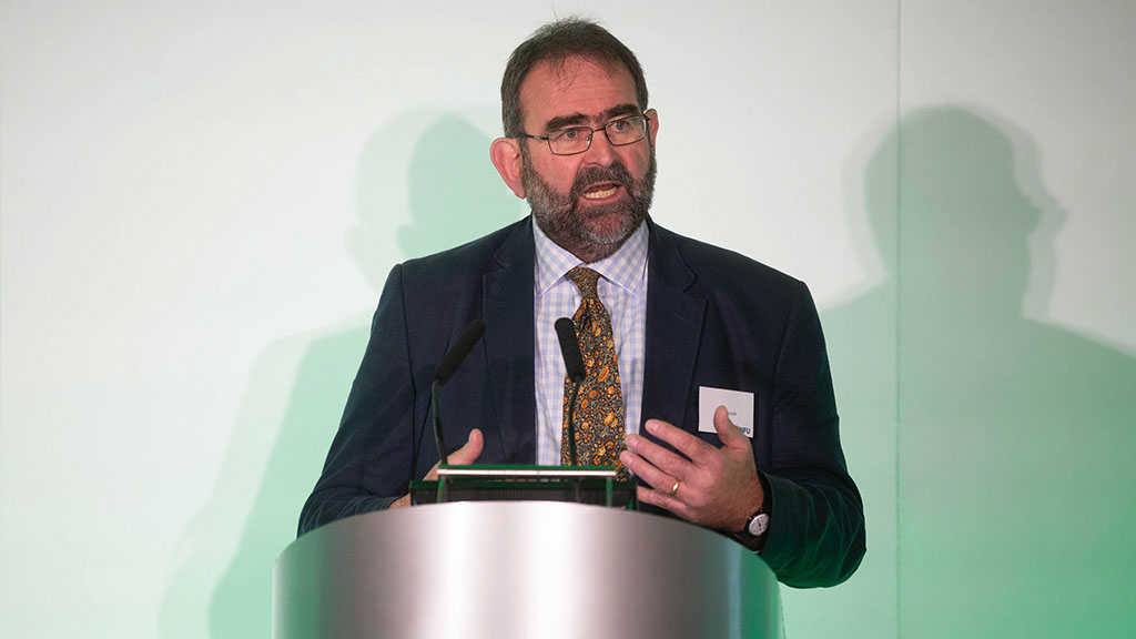 National Trust director of land and nature Mark Harold speaking at the NFU Tenants Conference.