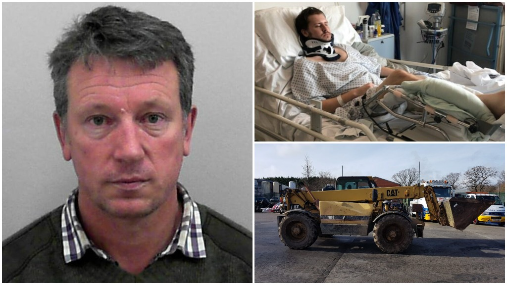 Farmer jailed after leaving 27-year-old with 'catastrophic' injuries