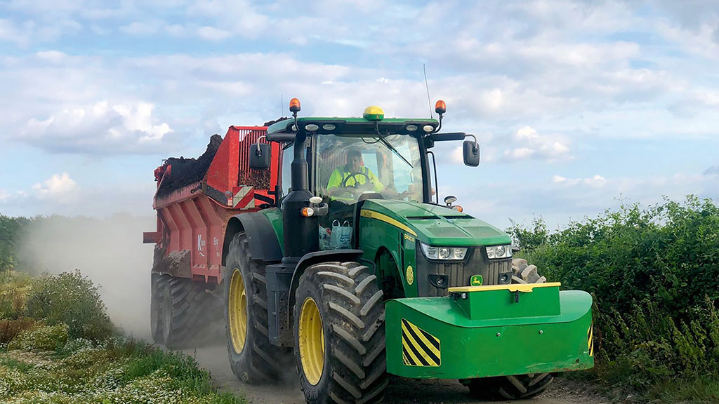 Making the most of muck with an IsoBus controlled spreader from K Two