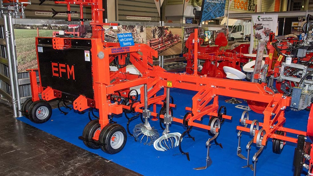Edwards Farm Machinery's front-mounted hoe