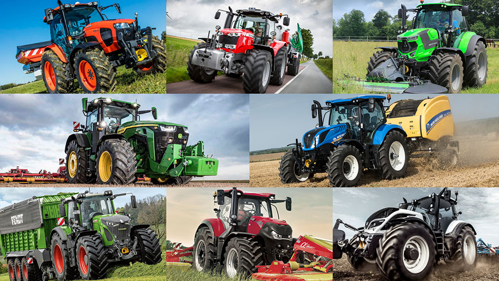 Break down of tractor registrations in 2019 by power and area