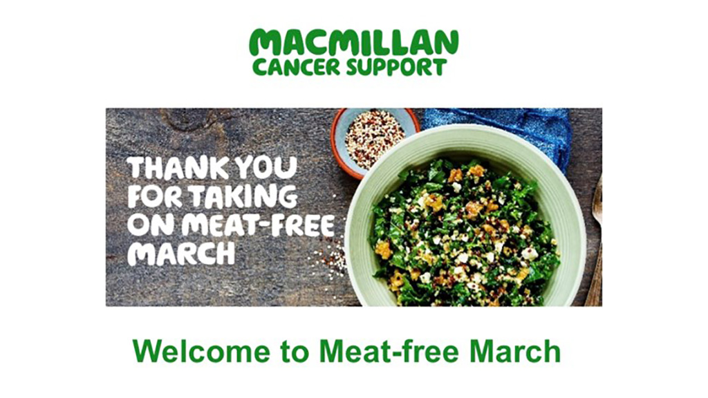 Macmillan backs down following criticism over anti-meat fundraising campaign