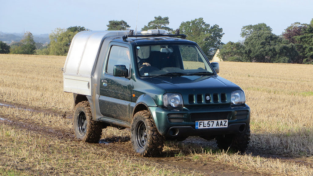 A Suzuki Jimny pick-up conversion is the perfect run-around and workhorse for James Startin.
