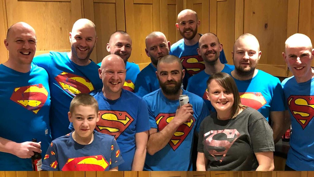 Above are all those who have currently 'braved the shave'.