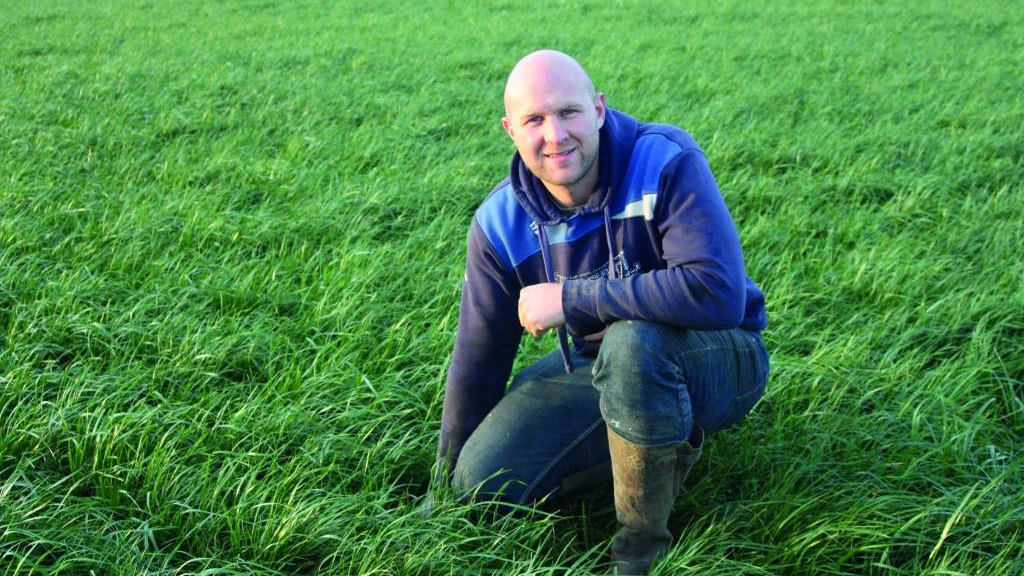 Josh Ovens has been working hard to improve his forage crop production.