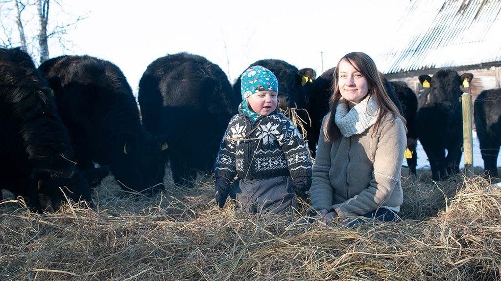 Estonian farmer inspired by Scottish breed