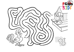 Why did the chicken escape the maze?