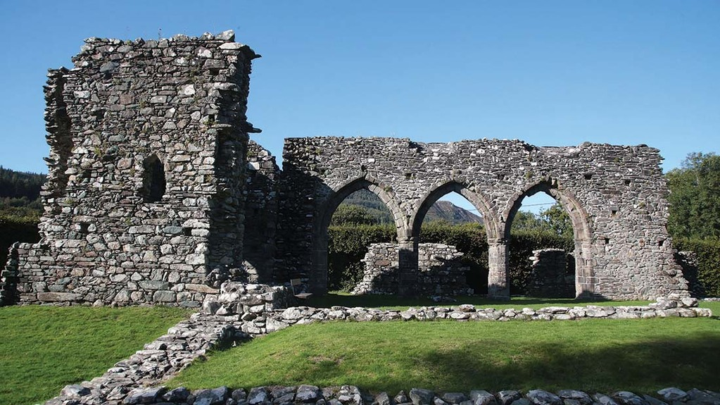 The Cistercian Abbey founded in 1198 is a Grade I listed ancient monument.