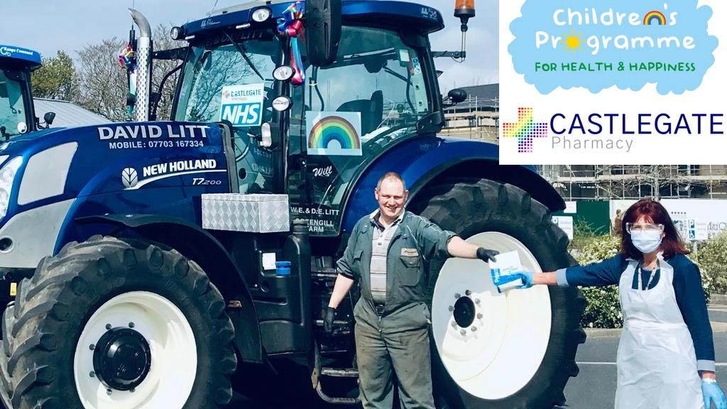 Agricultural contractor mobilises fleet of tractors to support NHS