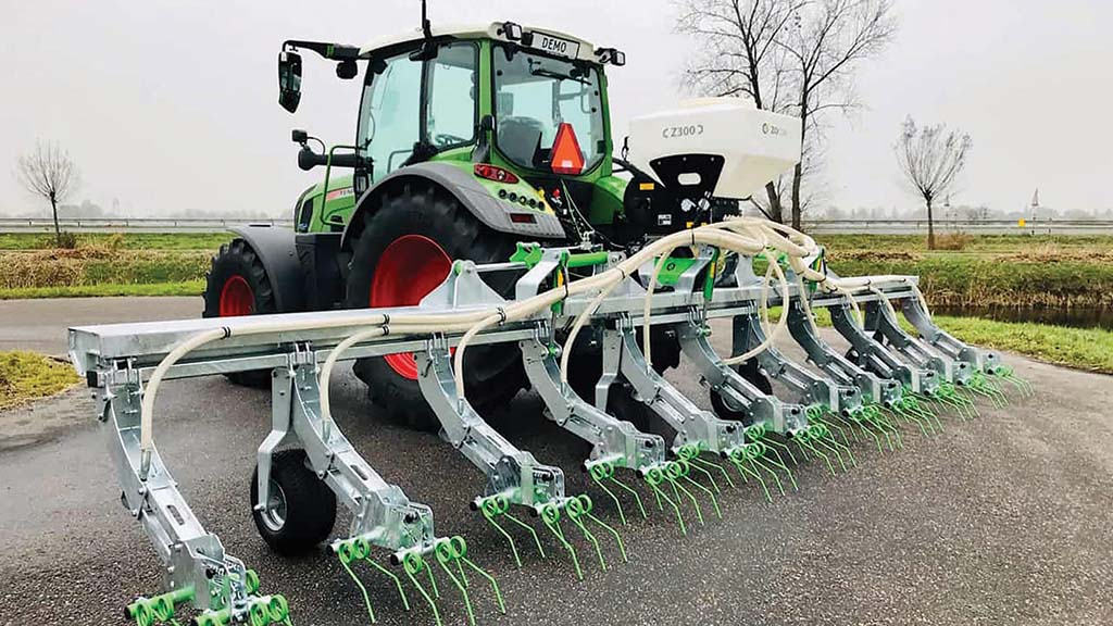 Greenseeder currently has a row spacing of 750mm.